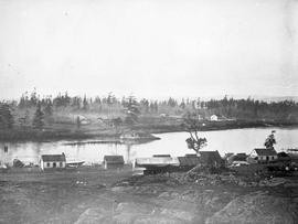 Victoria from Church Hill; looking west towards James Bay before the construction of the Birdcage...