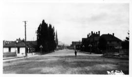 Blanshard Street looking north from Burdett Avenue, Victoria, C.C. Pemberton collection