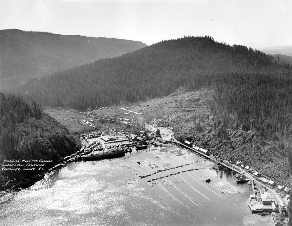 Wood and english lumber mill eaglewood vancouver island for Mill log