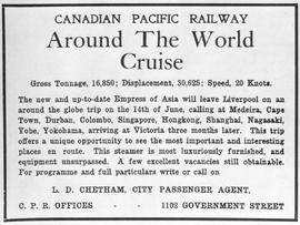 """Canadian Pacific Railway Around the World Cruise...."""