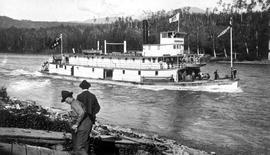 The SS Hazelton on the Skeen River.