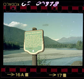 """Skeena River Boats"" Stop of Interest sign"