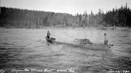 Ernie Wheele with the Ingenika Mines boat.