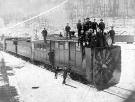 """Canadian Pacific Railway Rotary Snowplough""; the first rotary snowplough."
