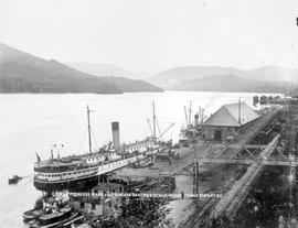 The SS Princess Mary and the Princess Beatrice at government wharf in Prince Rupert.