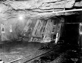 """Bottom of incline shaft 3932, Sullivan Mine, Kimberley, BC."""