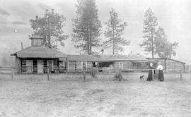 Martin Burrell's ranch house at Grand Forks.