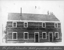 The first Princeton Hotel, proprietor Jim Wallace.