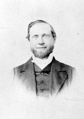 The Reverend John Hall, first Presbyterian minister in British Columbia.