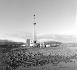 Gas Drilling Rig Near Fort St. John