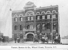 """Turner, Beeton & Co., Wharf Street, Victoria, BC""; in the Yates Block at the foot ..."
