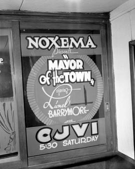 "Poster, Cjvi Victoria; ""Noxema Presents 'Mayor Of The Town' Starring Lionel Barrym..."