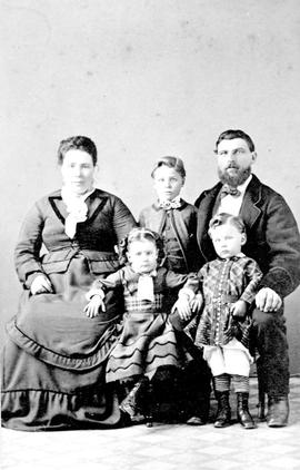 Captain and Mrs. Christiansen and children.