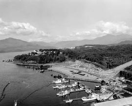 Aerial Of The BC Ferry Wharf At Prince Rupert