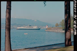 Ship Passing Brockton Point, Stanley Park, Vancouver