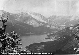 """Head of Slocan Lake from Hartney Mine, BC."""