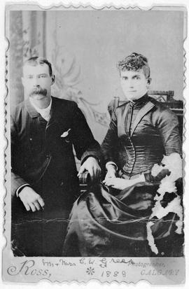 """Mr. and Mrs. C.W. Greer""; on their wedding day"