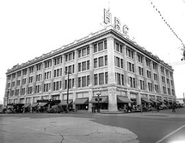 The Hudson's Bay Store, northeast corner of Douglas and Fisgard Streets, Victoria.