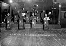 """S.S.M. & S. Dance Band, Victoria Hostess House, Jan 1944"""