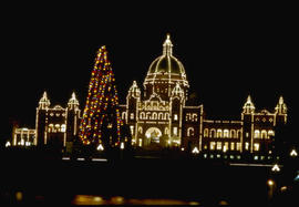 Night View Legislative Buildings, Victoria