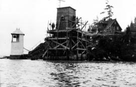 Construction of the new lighthouse at Brockton Point, Vancouver