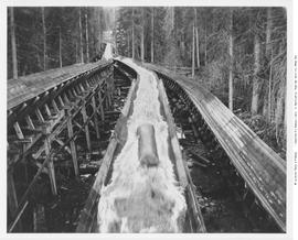 Chase. Adams River Lumber Co. Three Level Flumes