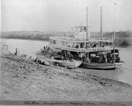 "North American Boundary Commission; ""Red River Transportation Company's steamer, Selkir..."
