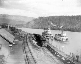 SS Lytton And SS Rossland At East Robson.