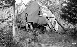 Forest Assistant W. Norcott At Trout Creek
