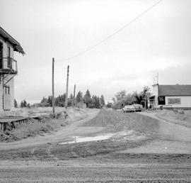Fort Steele shortly before restoration; Riverside Avenue, looking southeast.