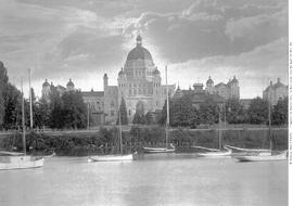 Parliament Buildings, Victoria, Showing Old Buildings Before Dismantling.