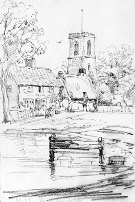 Mulbarton Norfolk [Showing Village And Church In England]
