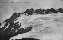 """Della Glacier, Interior of Vancouver Island, BC""; geological survey of Canada."