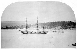 """HMS Sutlej"".   [And ""Mohawk"" In Esquimalt Harbour.]"