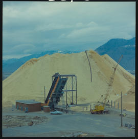 Unloading Chips At Kamloops Pulp And Paper Mill