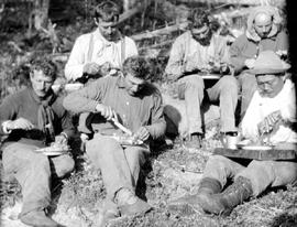 A grouse supper, Ingenika Trail exploratory survey