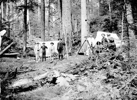"""Hartley Creek Camp, 1906, Columbia River Wagon Road."""