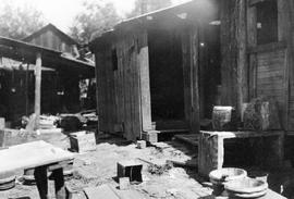 Chinese quarters at Extension looted during the lockout of Dunsmuir's Vancouver Island miners.