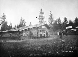 """Crows Nest Hotel; Crows Nest Restaurant and Bakery, Meals At All Hours, Meals 35 Cents, Beds 15 Cents, Jimmie & Fred Props""; Construction of Crow's Nest Pass branch of the CPR."