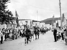 A parade at the official opening of Barkerville as an historic site