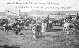 """After the races at the Victoria Country Club Limited, Summer Race Meeting, June 5th to Augu..."
