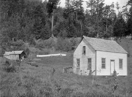 At Newport Bay on Galiano Island; at the house on the left are John and Elizabeth Georgeson, thei...