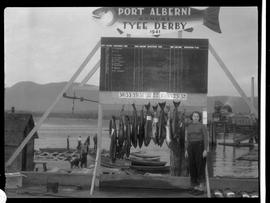 Catch on display, Port Alberni Tyee Derby