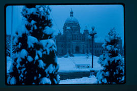 Victoria. Legislative Buildings Snowfall