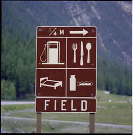Accommodation Sign, Field, Yoho National Park