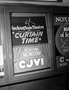 "Poster, Cjvi Victoria; ""At Buckingham Theatre, Its Curtain Time, 6:30 P.M. Wednesday On Cjvi..."