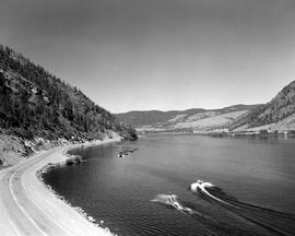Nicola Lake and Highway 5.