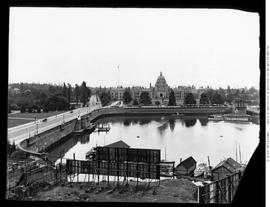 Parliament Buildings showing harbour and causeway