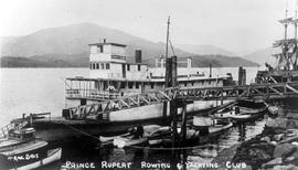 The SS Hazelton being used as the Prince Rupert Rowing and Yachting Club