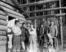 """Finlay Junction""; Bodeker's cabin, Jack Adams, George V. Copley, Mrs. Bodeker, Be..."